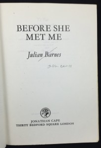 Before She Met Me Uncorrected Proof (Cape, 1982): Title Page
