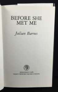 Before She Met Me (1982): Title Page