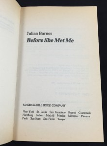 Before She Met Me (McGraw-Hill, 1986): Title Page