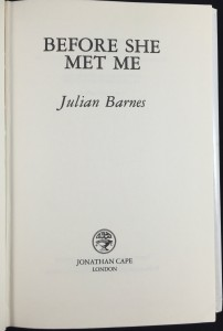 Before She Met Me (Jonathan Cape, 1991): Title Page