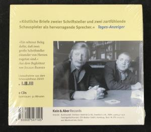 Back of CD Cover with Blurb by Julian Barnes