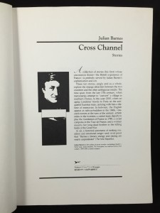 Cross Channel Uncorrected Proof Galley (Knopf, 1996): Promo Page