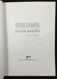 Cross Channel Uncorrected Proof Galley (Knopf, 1996): Title Page