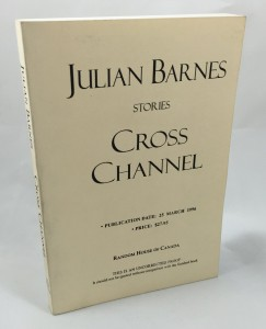 Cross Channel Uncorrected Proof (Random House Canada, 1996): Cover