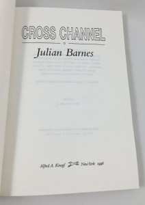 Cross Channel Uncorrected Proof (Random House Canada, 1996): Title Page