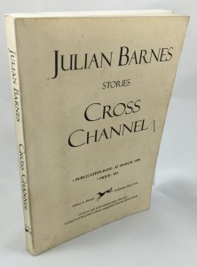Cross Channel Uncorrected Proof (Alfred A. Knopf, 1996): Cover