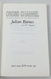 Cross Channel Uncorrected Proof (Alfred A. Knopf, 1996): Title Page