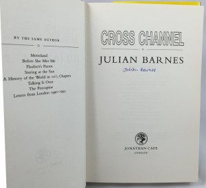 Cross Channel (Jonathan Cape, 1996): Title Page