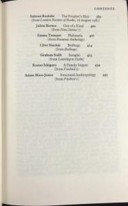 End of Table of Contents