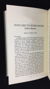 Julian Barnes Contribution