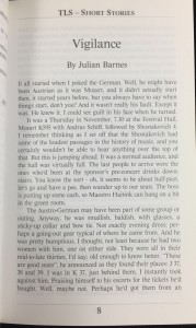 First Page of Story