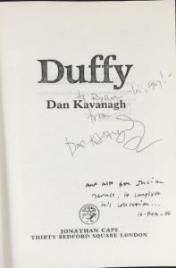 Title Page Inscribed by Julian Barnes and Dan Kavanagh