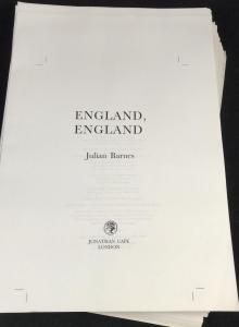 England, England | Unbound Proof (Jonathan Cape, 1998; Author's Copy)