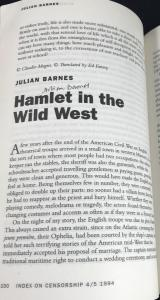 First Page of Barnes Story