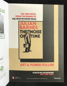 Advertisement for Julian Barnes's The Noise of Time Inside Back Cover
