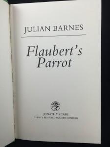 Flaubert's Parrot: Title Page