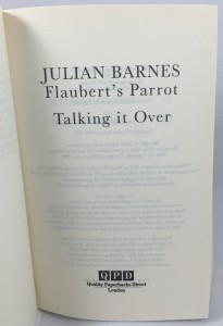 Flaubert's Parrot Talking It Over: Title PAge
