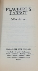 Flaubert's Parrot (McGraw-Hill, 1985): Title Page