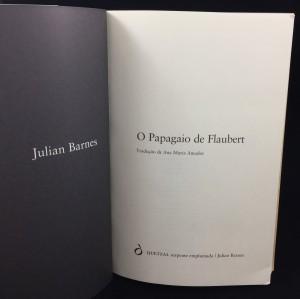 O Papagaio de Flaubert (Quetzal Editores, 1988; Portuguese): Title Page