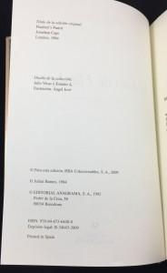 El loro de Flaubert (Anagrama, 2009): Copyright