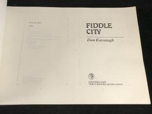 Fiddle City | Uncorrected Proof (Jonathan Cape, 1981; Author's Copy)