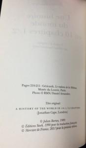Une histoire de monde en 10 chapitres 1/2 (Mercure de France, 2011; French): Copyright