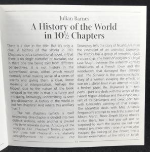 Insert to CDs for A History of the World in 10½ Chapters