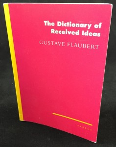 Dictionary of Received Ideas (Syrens, 1994): Front Cover