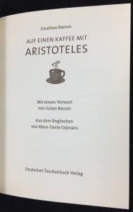 Auf Einen Kaffee Mit Aristoteles: Title Page