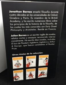 Conversaciones con Aristóteles (Spanish): Back Flap