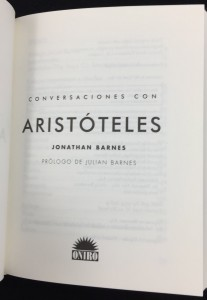 Conversaciones con Aristóteles (Spanish): Title Page