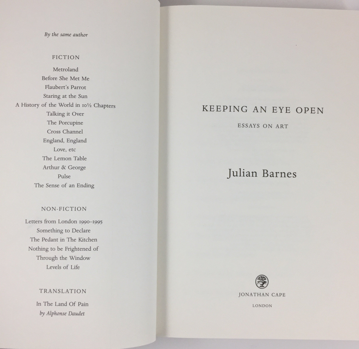 howard hodgkin julian barnes bibliography notes on this edition jonathan cape published julian barnes s collection of art essays keeping an eye open in 2015 on the acknowledgements page