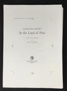 In the Land of Pain: Unbound Proof: Title Page