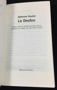 La Doulou (Mercure de France, 2007): Title Page