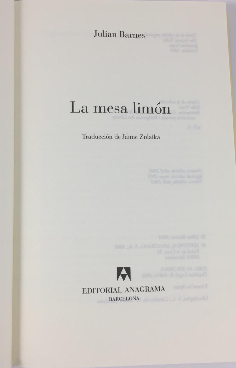 Description of the book The Lemon Table