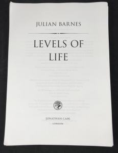Levels of Life (Unbound Proof): Title Page