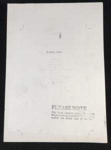 Uncorrected Proof Front Sheet