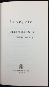 Love, etc (Jonathan Cape, 2000): Title Page