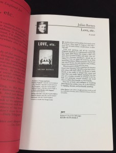 Love, etc. Red Proof (Knopf, 2001): Preliminary Page