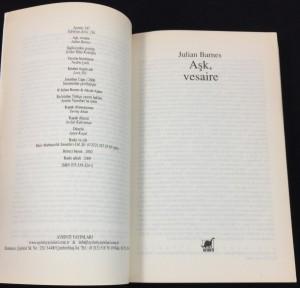 Aşk Vesaire (2002): Title Page