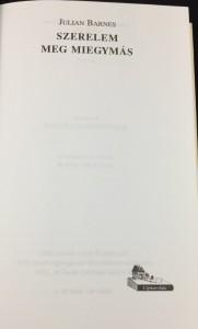 Szerelem meg miegymás (Ulpius-ház, 2001; Hungarian): Title Page
