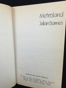 Metroland (McGraw-Hill, 1987): Title Page