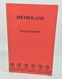 Metroland Proof (Cape, 1980): Cover