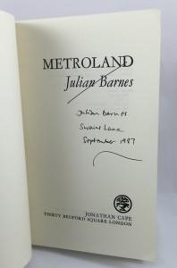 Metroland Proof (Cape, 1980): Title