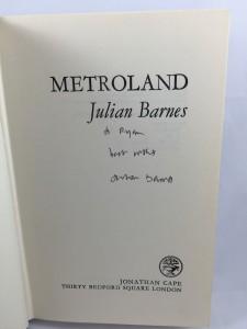 Metroland (Jonathan Cape, 1980): Title Page