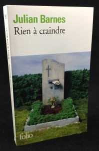 Rien à craindre | Nothing to Be Frightened of (Mercure de France, 2009; French): Front Cover