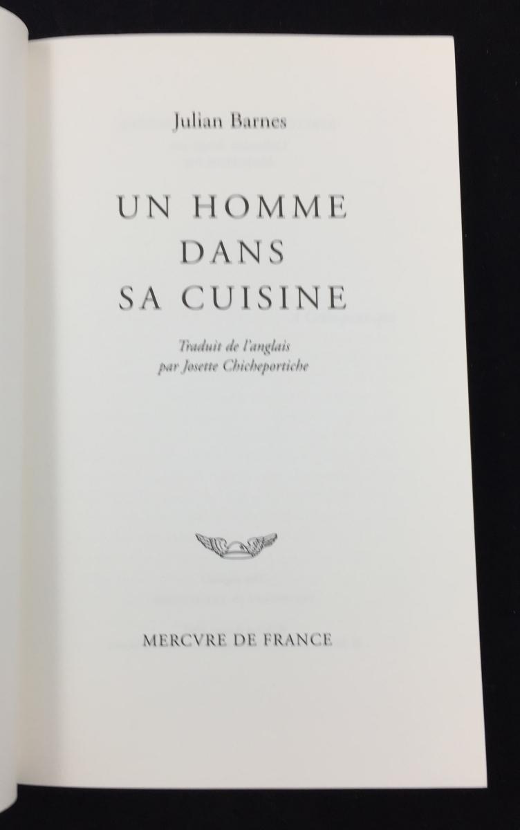 Un homme dans sa cuisine   The Pedant in the Kitchen (Mercure de ...