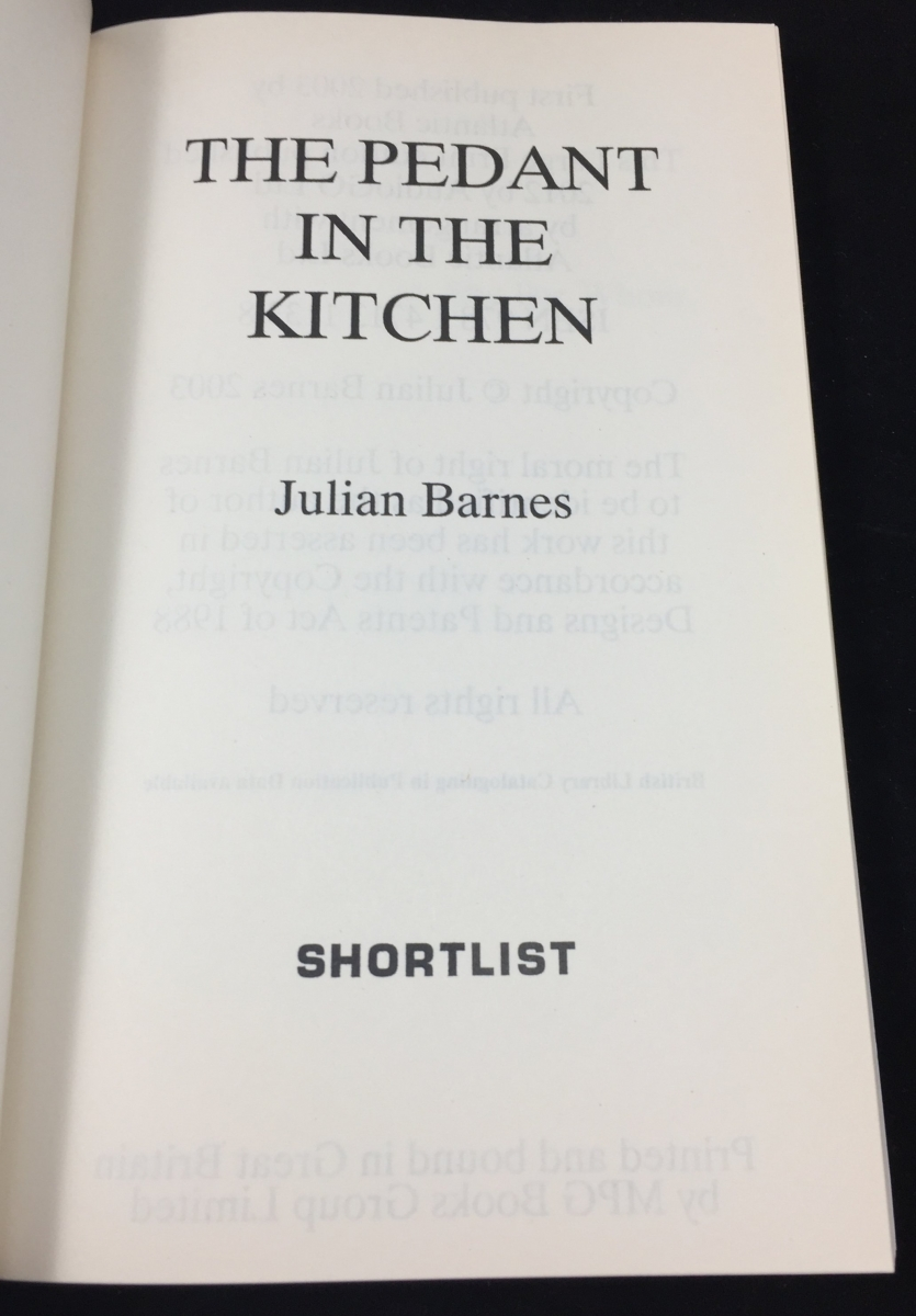 The Pedant in the Kitchen (Shortlist, 2012; Large Print) – Julian ...