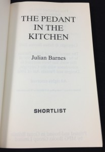 The Pedant in the Kitchen (AudioGO, 2012; Large Print): Title Page