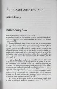 Beginning of Julian Barnes's Piece